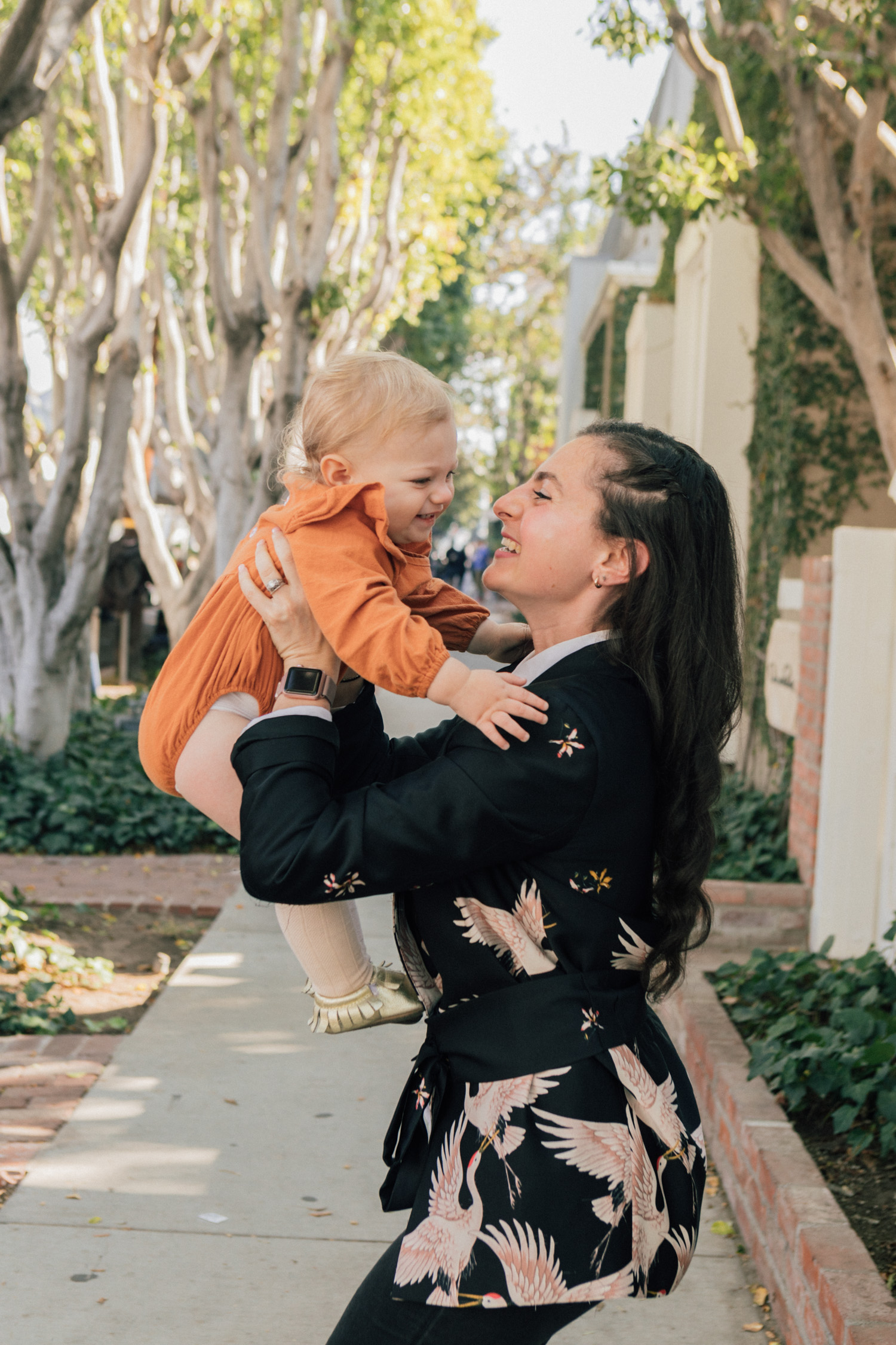 Los Angeles mom and baby street style