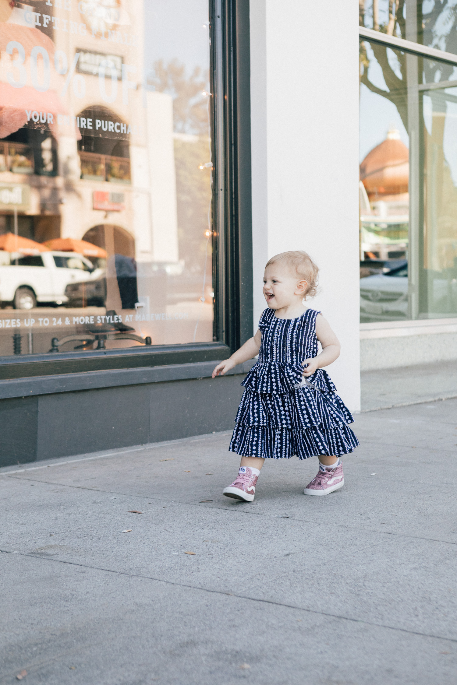LA blogger, RELish By Arielle's daughter, Naiya wears ruffles