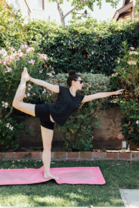 Los Angeles blogger, RELish By Arielle shares yoga poses to destress during quarantine